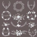 Wedding комплект с цветками Стоковые Фотографии RF