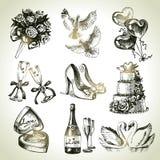 Wedding комплект Стоковое Изображение
