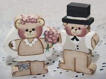 Wedding медведи стоковые изображения