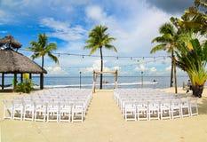 Wedding на пляже Стоковое Изображение