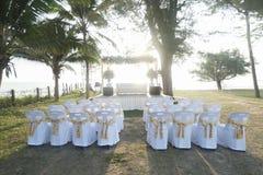 Wedding на пляже Стоковые Изображения RF