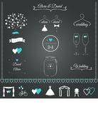 Wedding неподвижные элементы дизайна Стоковые Изображения RF