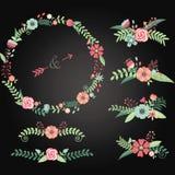 Wedding доски флористический Стоковое Изображение