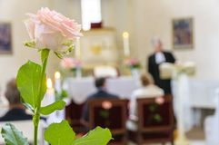 Wedding поднял стоковые фотографии rf