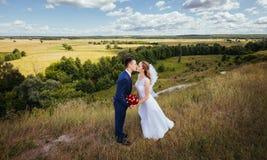 Wedding прогулка на природе Стоковое фото RF