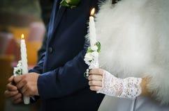 2 Wedding свечи Стоковая Фотография RF