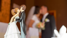 Wedding состав поцелуя Стоковая Фотография