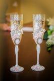 2 wedding стекла шампанского Стоковые Изображения RF