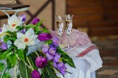 2 wedding стекла Стоковое Изображение RF