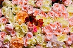 Wedding украшающ букет роз и орхидеи, крупного плана Стоковое Изображение RF