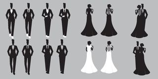 Wedding установленная как раз пожененная карточка - бесплатная иллюстрация