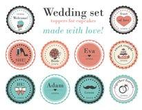 Wedding установленные открытки Стоковые Фото