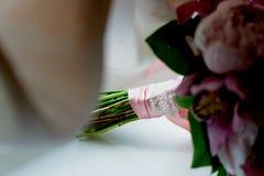 Wedding формы Bridal букета классические в розовых тонах Wedding floristry Стоковое Фото