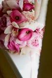 Wedding формы Bridal букета классические в розовых тонах Wedding floristry Стоковые Изображения