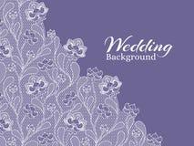 Wedding флористическая предпосылка вектора с картиной шнурка Стоковое Изображение RF