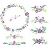 Wedding флористические элементы Стоковые Изображения RF