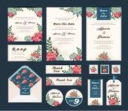 Wedding флористическое собрание шаблона Стоковое Изображение RF