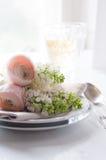 Wedding элегантная установка обеденного стола Стоковые Фотографии RF