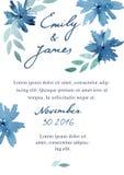 Wedding элегантное приглашение Стоковая Фотография RF