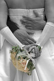 Wedding 1. The first marriage hug together, holding each other Stock Photos
