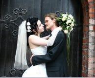 Wedding. Happy beautiful and young couple Stock Image