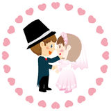 Wedding. Vector illustration of pink Wedding card Royalty Free Stock Image