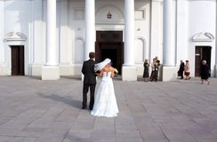 Before the wedding. The young couple before the wedding ceremony Stock Photography
