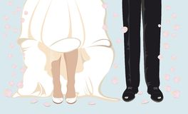 Wedding. Illustration can be used as wedding invitation or wedding card stock illustration