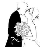 Wedding. Black and White wedding card Royalty Free Stock Photography
