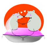 Wedding. A wedding for two lovely mouse, vector, illustration Stock Photo