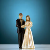 Wedding. Cake figurines royalty free stock photo