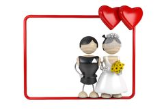 Wedding. Frame. abstract 3d model Stock Images