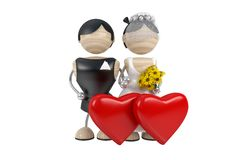 Wedding. Couple. abstract 3d model Royalty Free Stock Image