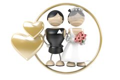 Wedding. Couple. abstract 3d model Royalty Free Stock Images