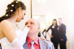 Wedding. Beautiful moment of the wedding celebration Stock Photos