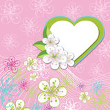 Флористический дизайн для wedding шаблона. Цветки весны, иллюстрация вектора