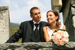 Wedding. Pictures, the couple just married Stock Photography