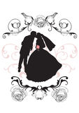 Wedding. Illustration of a groom and a bride Royalty Free Stock Images