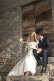 Wedding. Pictures, the couple just married Royalty Free Stock Photography