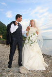 Wedding. Pictures, the couple just married Royalty Free Stock Photo