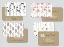 Шаблон визитной карточки, wedding стиль Стоковые Фотографии RF
