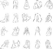 Wedding. 20 themed EPS images related to wedding. The number of vector nodes is absolute minimum. The images are very easy to use and edit and are extremely vector illustration