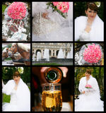Wedding. Collage of nine wedding photos Stock Photography