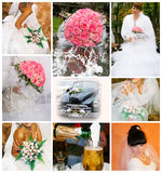 Wedding. Collage of nine wedding photos Stock Images