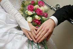 Wedding. Day of wedding the most solemn and unforgettable in a life of each person Royalty Free Stock Image
