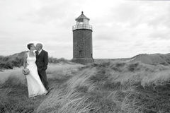 The Wedding. Wedding at the beach on the island sylt, germany Stock Images