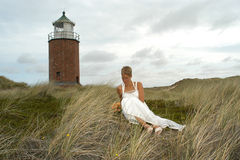 Wedding. A bride on the island sylt, germany Stock Photography