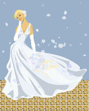 Wedding. Happy blonde Stock Illustration