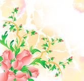 Wedding abstract background with roses flower. Wedding abstract spring background with roses flower Royalty Free Stock Photo