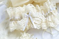 Wedding accessories. On white background Royalty Free Stock Photography